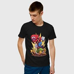 Футболка хлопковая мужская Mario Rage цвета черный — фото 2