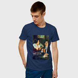 Футболка хлопковая мужская Twin Peaks Bar цвета тёмно-синий — фото 2