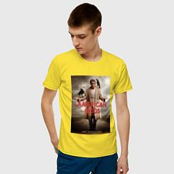 Футболка хлопковая мужская American Gods: Mr. Wednesday цвета желтый — фото 2