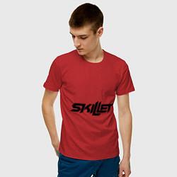 Мужская хлопковая футболка с принтом Skillet, цвет: красный, артикул: 10013055800001 — фото 2