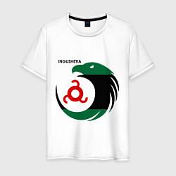 Футболка хлопковая мужская Ingushetia Eagle цвета белый — фото 1