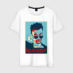 Футболка хлопковая мужская Bloody Poster цвета белый — фото 1