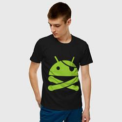 Футболка хлопковая мужская Android super user - фото 2