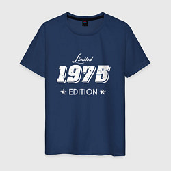 Футболка хлопковая мужская Limited Edition 1975 цвета тёмно-синий — фото 1