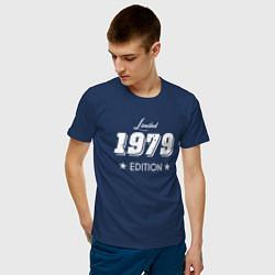 Футболка хлопковая мужская Limited Edition 1979 цвета тёмно-синий — фото 2