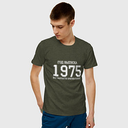 Футболка хлопковая мужская Год выпуска 1975 цвета меланж-хаки — фото 2