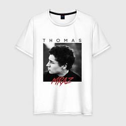 Футболка хлопковая мужская Thomas Mraz цвета белый — фото 1