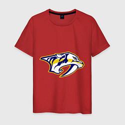 Футболка хлопковая мужская Nashville Predators: Radulov 47 цвета красный — фото 1