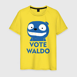 Футболка хлопковая мужская Vote Waldo цвета желтый — фото 1