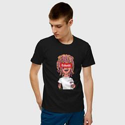 Футболка хлопковая мужская Lil Pump: Esketit Style цвета черный — фото 2