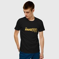 Футболка хлопковая мужская FakeTaxi цвета черный — фото 2