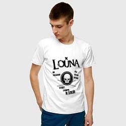 Футболка хлопковая мужская Louna: Громче и злей цвета белый — фото 2