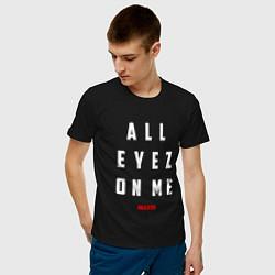 Футболка хлопковая мужская Tupac: All eyez on me цвета черный — фото 2