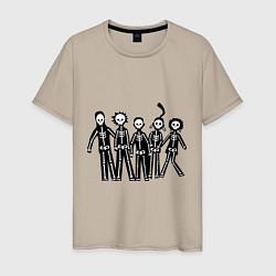 Мужская футболка Отбросы-скелеты