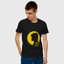 Футболка хлопковая мужская Виктор Цой цвета черный — фото 2
