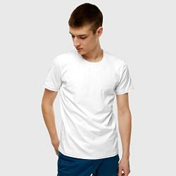 Мужская хлопковая футболка с принтом That's Who Loves Skillet, цвет: белый, артикул: 10147281500001 — фото 2