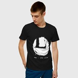 Футболка хлопковая мужская Мы - это Louna цвета черный — фото 2