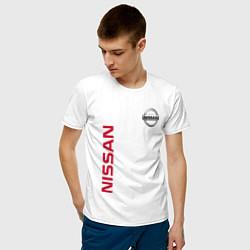 Футболка хлопковая мужская Nissan Style цвета белый — фото 2