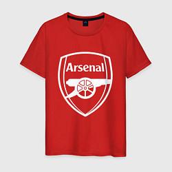 Футболка хлопковая мужская FC Arsenal цвета красный — фото 1