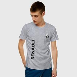 Футболка хлопковая мужская Renault Style цвета меланж — фото 2