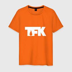 Футболка хлопковая мужская TFK: White Logo цвета оранжевый — фото 1