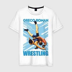 Футболка хлопковая мужская Greco-roman wrestling цвета белый — фото 1