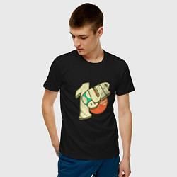 Футболка хлопковая мужская 1UP цвета черный — фото 2