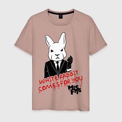 Мужская футболка Misfits: White rabbit