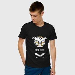 Футболка хлопковая мужская R6S DOKKAEBI цвета черный — фото 2