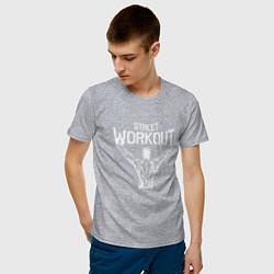 Футболка хлопковая мужская Stret WorkOut цвета меланж — фото 2