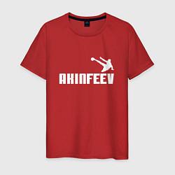 Футболка хлопковая мужская Akinfeev Style цвета красный — фото 1