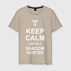 Футболка хлопковая мужская Be a Shadowhunter цвета миндальный — фото 1