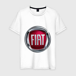 Футболка хлопковая мужская FIAT logo цвета белый — фото 1