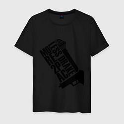 Мужская хлопковая футболка с принтом More 2Pac, цвет: черный, артикул: 10015742000001 — фото 1