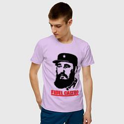 Футболка хлопковая мужская Fidel Castro цвета лаванда — фото 2