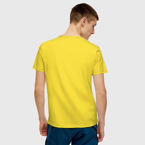 Мужская футболка Отучился у Макара / Желтый – фото 4