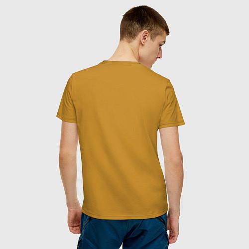 Мужская футболка Сигаретки - мигаретки / Горчичный – фото 4