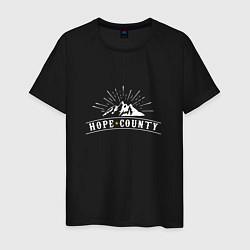 Футболка хлопковая мужская Hope Count: Mountain цвета черный — фото 1