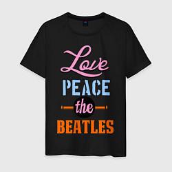 Мужская футболка Love peace the Beatles