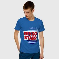 Футболка хлопковая мужская Ringo Starr: The Beatles цвета синий — фото 2