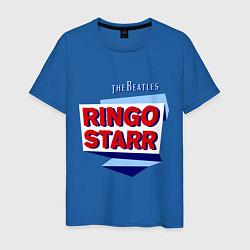 Футболка хлопковая мужская Ringo Starr: The Beatles цвета синий — фото 1