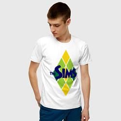 Футболка хлопковая мужская The Sims цвета белый — фото 2