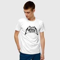 Футболка хлопковая мужская Пошлая Молли: Лого цвета белый — фото 2