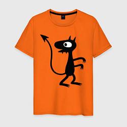 Футболка хлопковая мужская Luci цвета оранжевый — фото 1