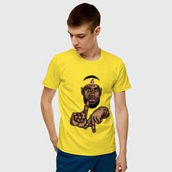 Мужская хлопковая футболка с принтом LeBron Style, цвет: желтый, артикул: 10162970500001 — фото 2