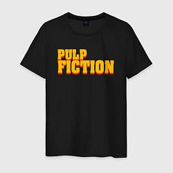 Футболка хлопковая мужская Pulp Fiction цвета черный — фото 1