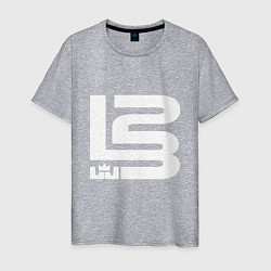 Мужская хлопковая футболка с принтом Lebron James, цвет: меланж, артикул: 10169385900001 — фото 1