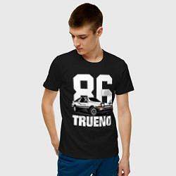 Мужская хлопковая футболка с принтом TRUENO 86, цвет: черный, артикул: 10170326500001 — фото 2