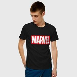 Футболка хлопковая мужская MARVEL цвета черный — фото 2