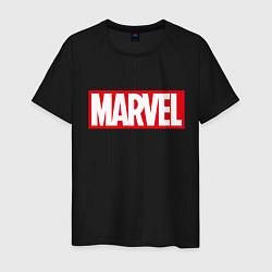 Мужская хлопковая футболка с принтом MARVEL, цвет: черный, артикул: 10170665900001 — фото 1